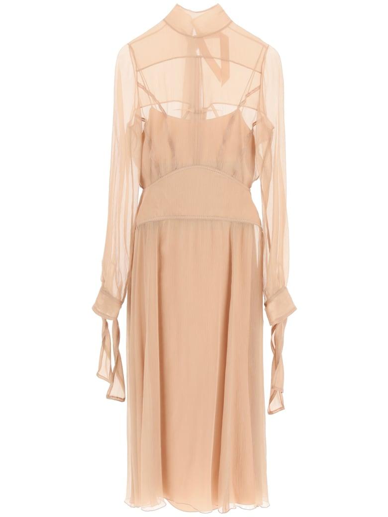 N.21 Silk Midi Dress - CIPRIA (Pink)
