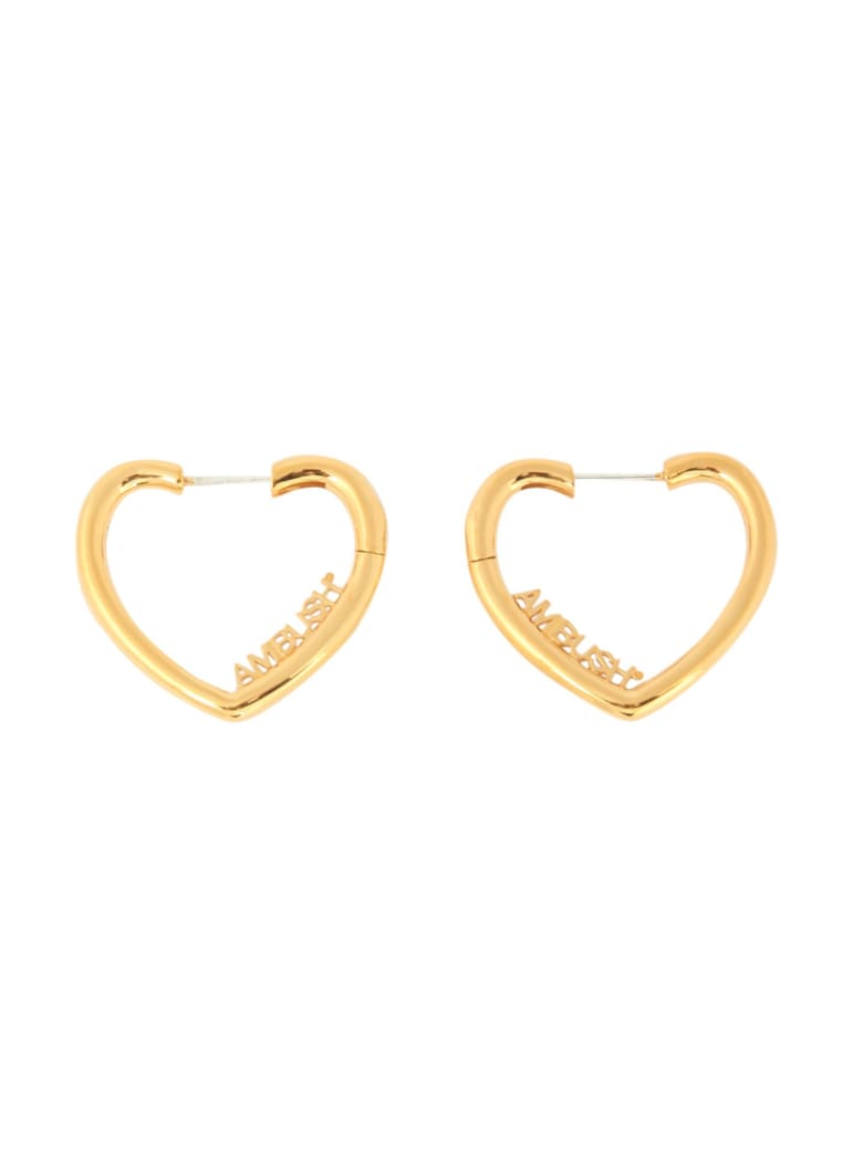 AMBUSH Mini Heart Earrings - GOLD