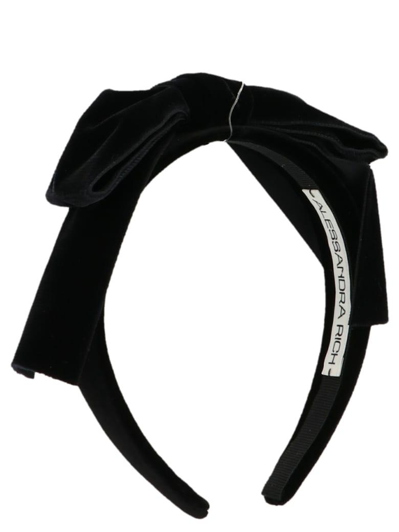 Alessandra Rich Headband - Black