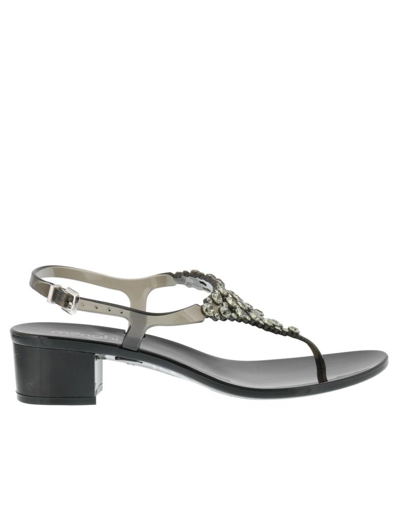Menghi Pump Sandals - Black
