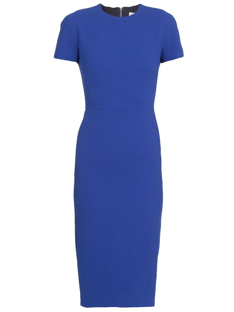 Victoria Beckham Long Crepe Dress - ELECTRIC BLUE