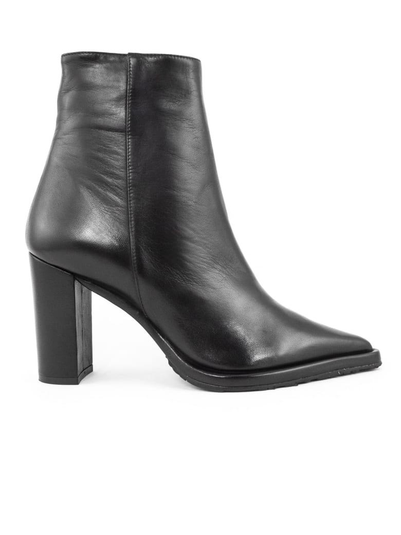 Aldo Castagna Black Leather Caryn Boots - Nero