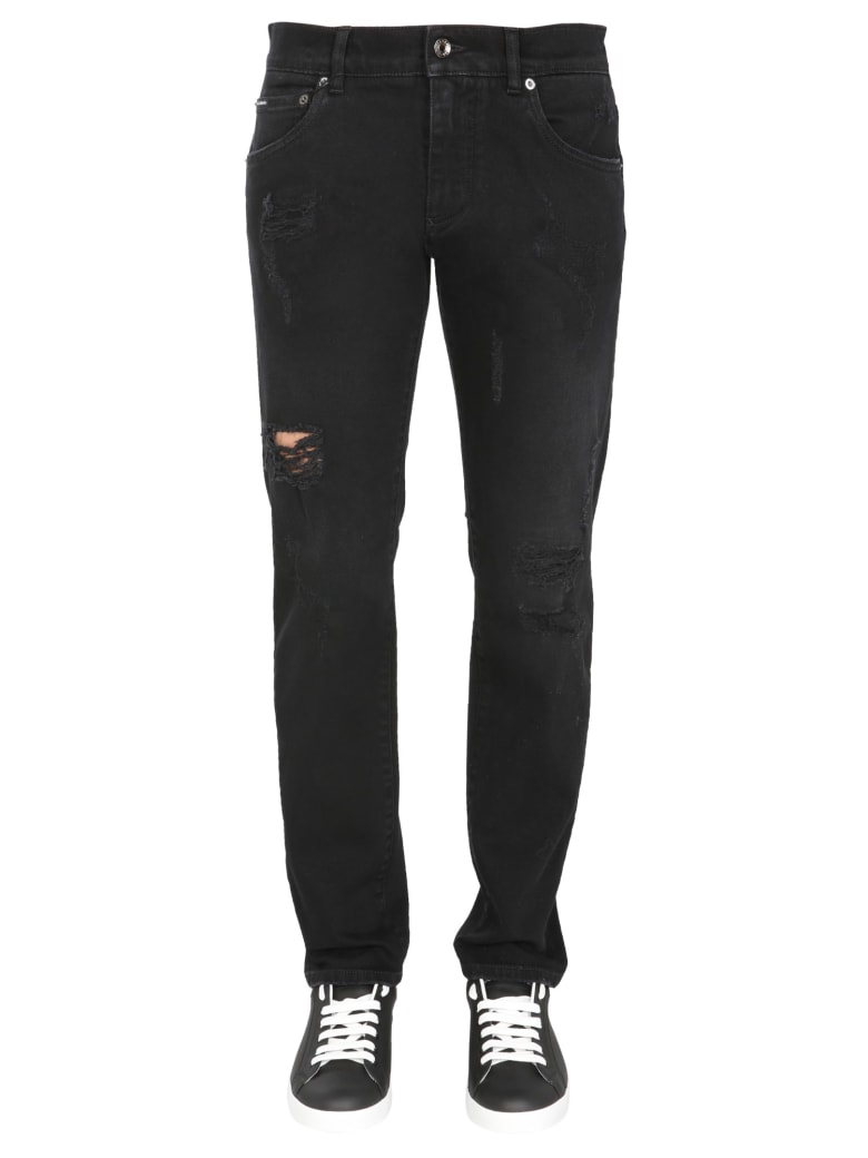 Dolce & Gabbana Skinny Fit Jeans - Blu Denim