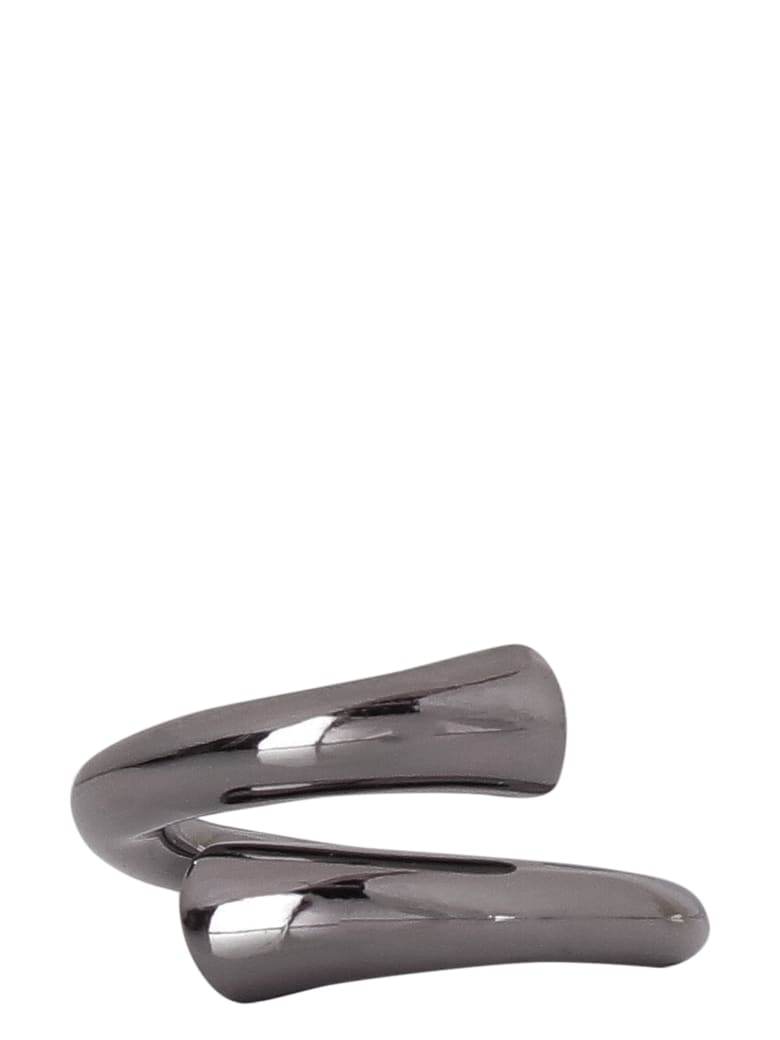 Federica Tosi Tube Brass Ring - silver