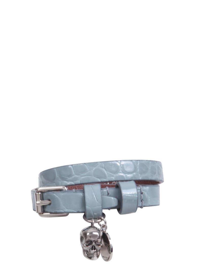 Alexander McQueen Double Turn Bracelet - CELESTE