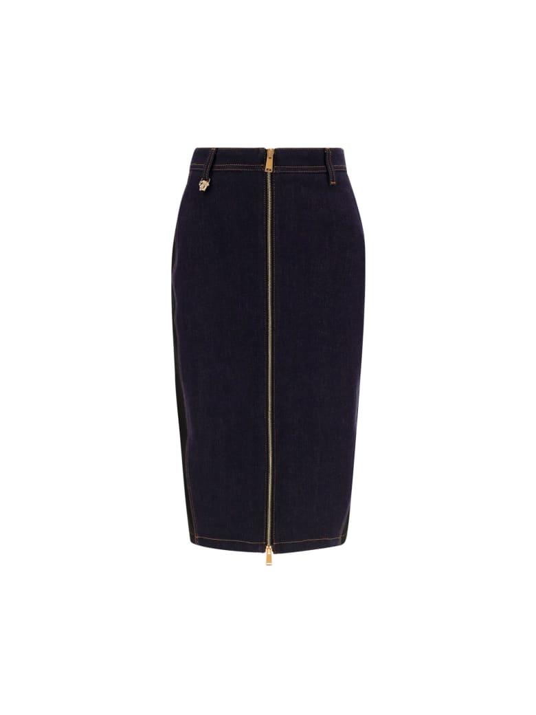 Versace Denim Skirt - Blu Denim