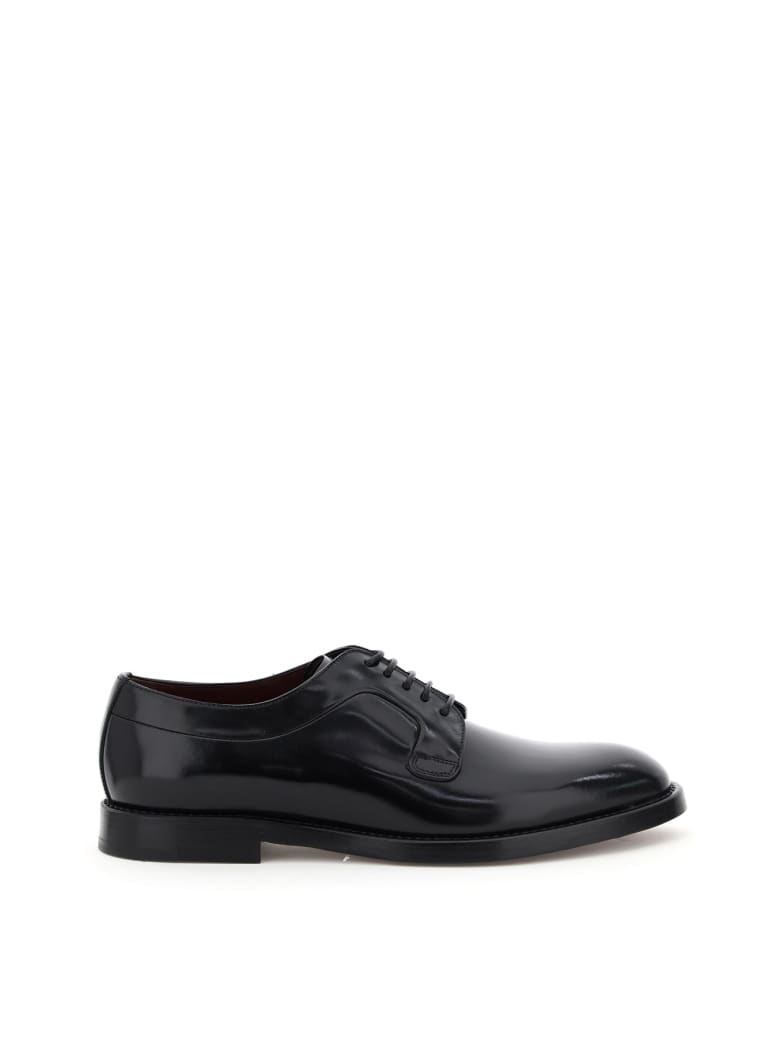 Dolce & Gabbana Giotto Leather Lace-up Shoes - Nero