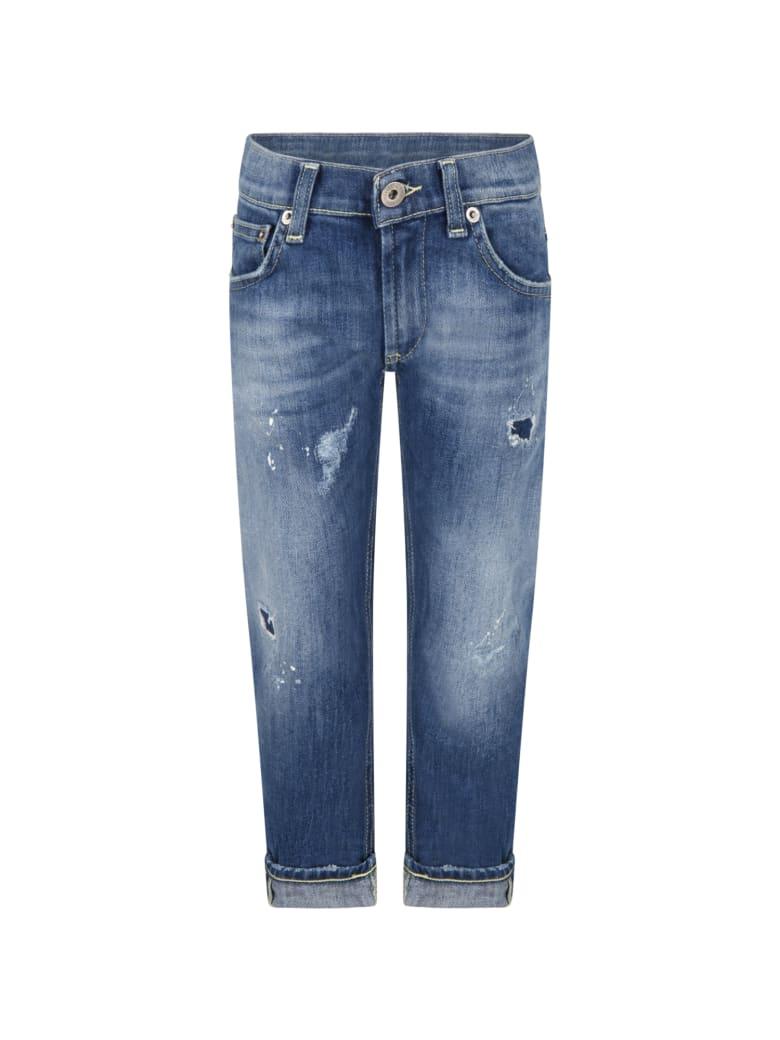 Dondup Light Blue ''brady'' Jeans For Boy - Denim