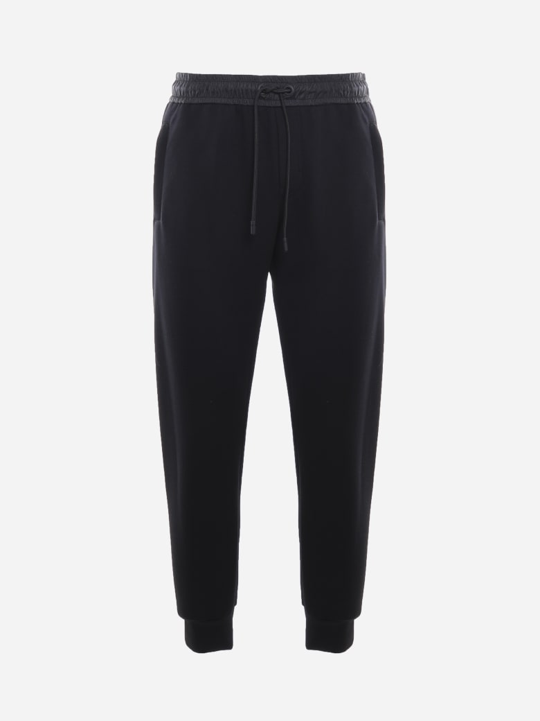 Dolce & Gabbana Cotton Blend Joggers With Embossed Logo Detail - Black