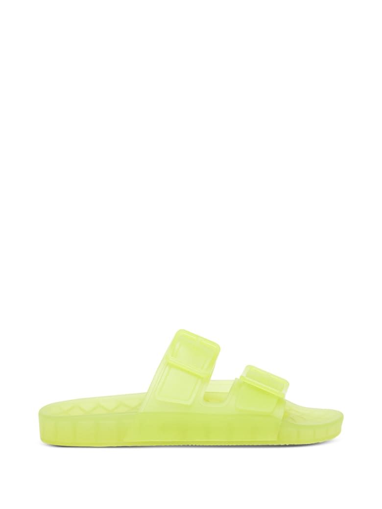 Balenciaga Mallorca Sandals In Neon Yellow Technical Polyurethane - Yellow