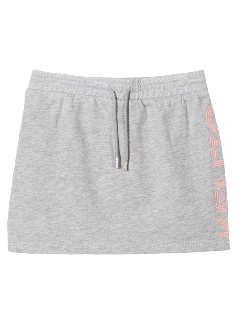 Kenzo Grey Cotton Skirt - Grigio