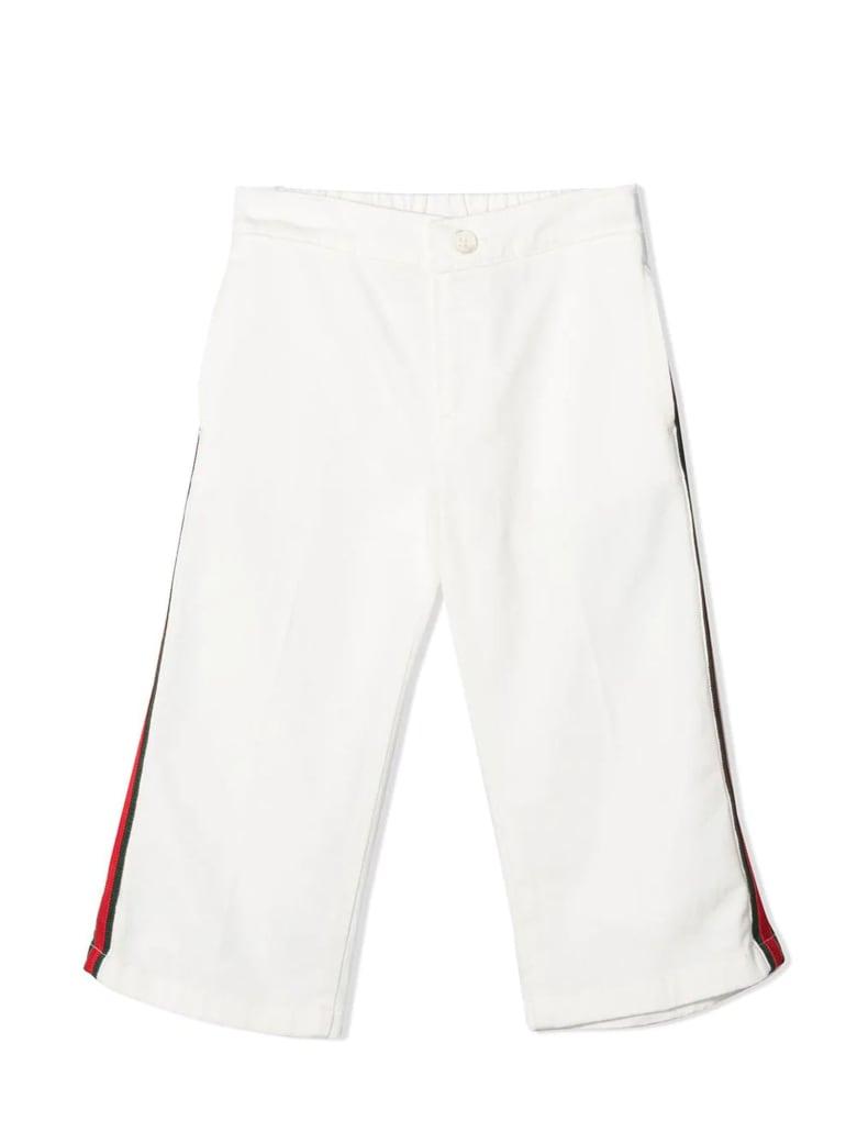 Gucci White Cotton Trousers - Bianco
