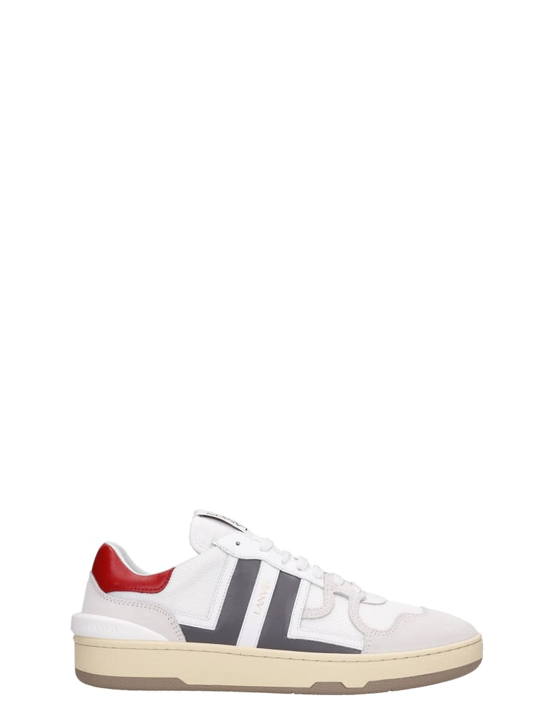 Lanvin Clay Sneakers In White Suede And Leather - white