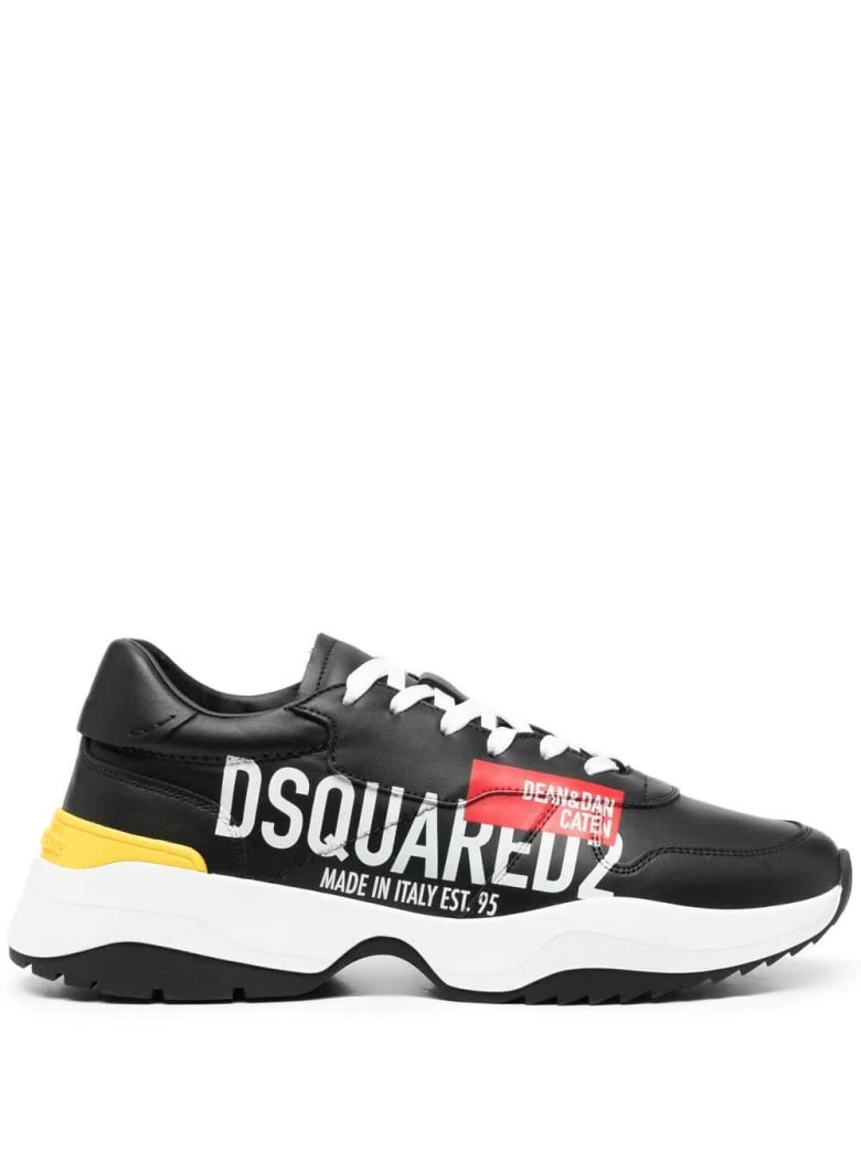 Dsquared2 Man Black Made In Italy Dsquared2 D24 Sneakers