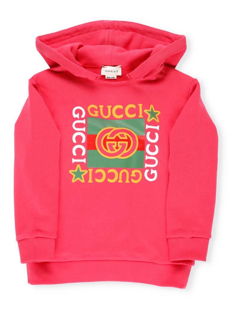 Gucci Cotton Hoodie - NEW ROSE/MC