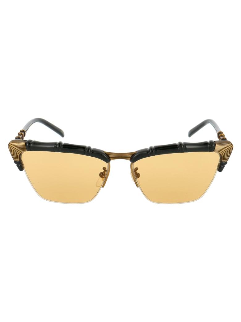 Gucci Gg0660s Sunglasses - 002 BLACK BLACK YELLOW
