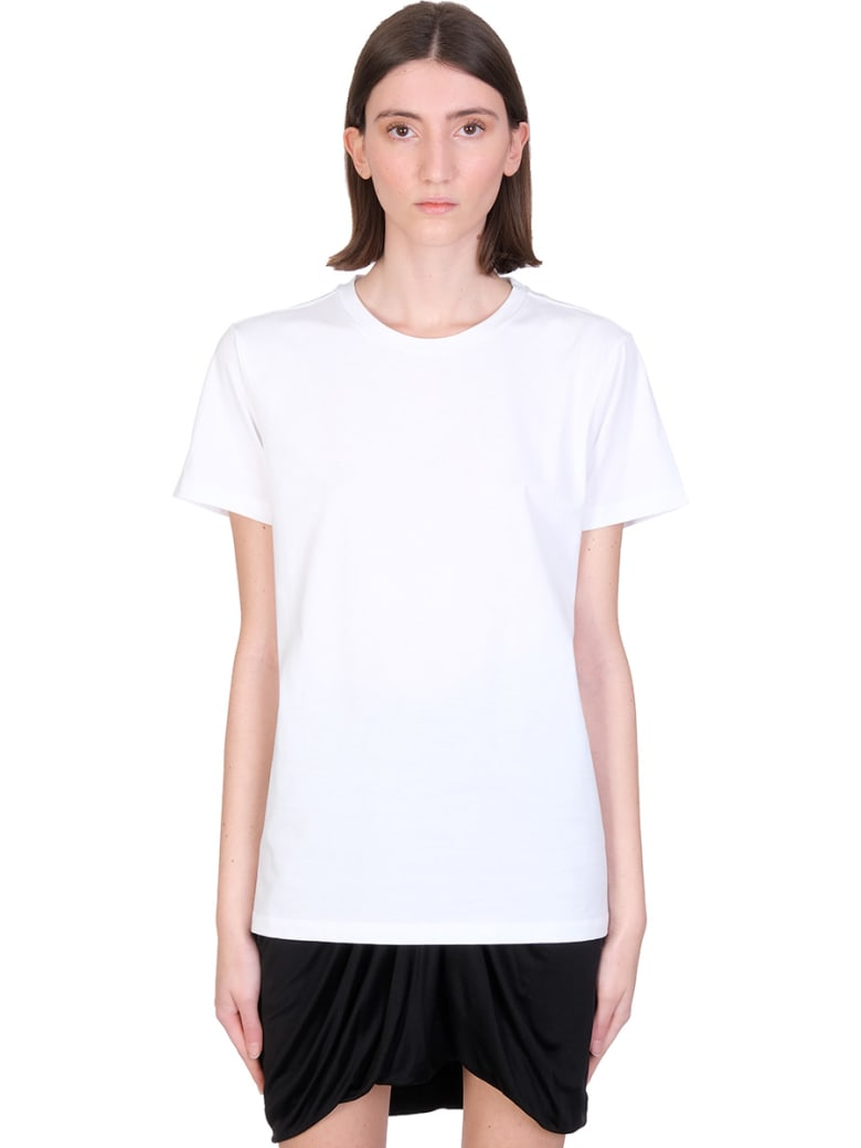 Isabel Marant Annax T-shirt In White Cotton - white