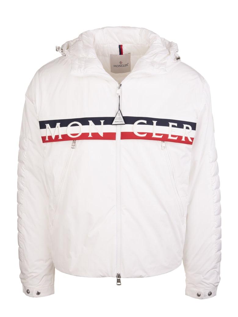 Moncler White Olargues Moncler Logo Padded Jacket