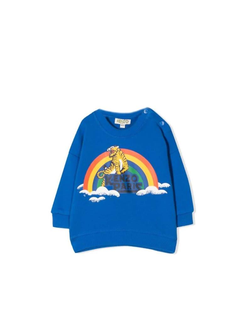 Kenzo Kids Sweatshirt With Print - Blu