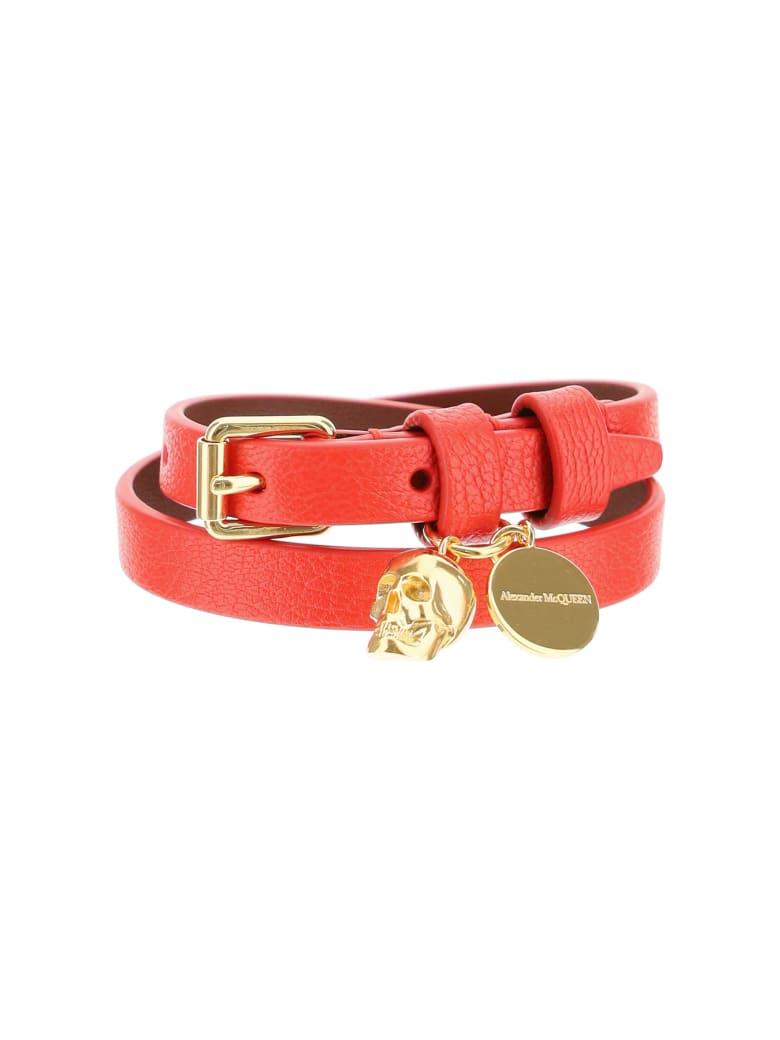 Alexander McQueen Double Wrap Skull Bracelet - Lustred