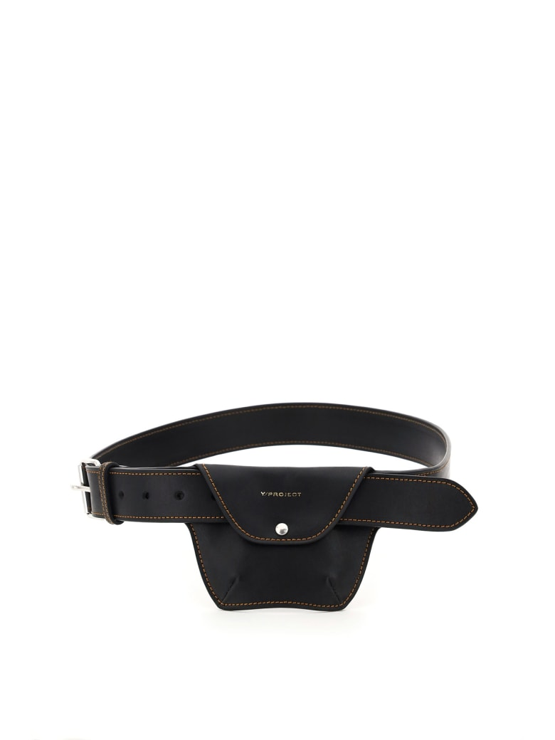Y/Project Pocket Leather Belt - BLACK (Brown)