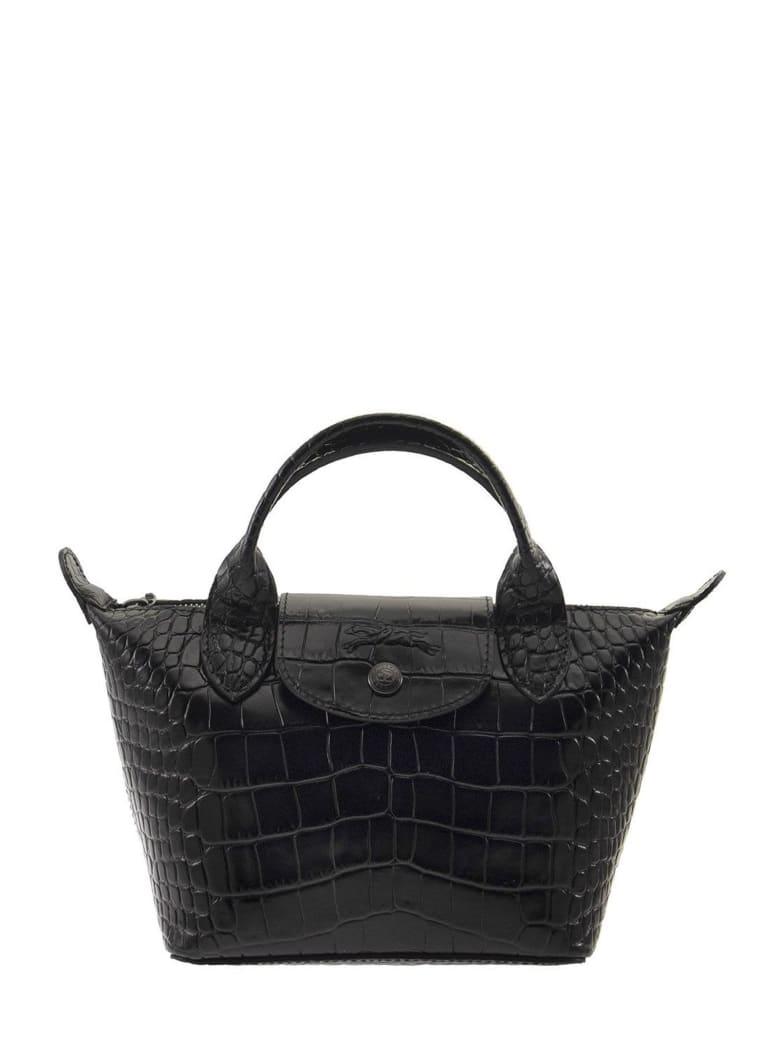 Longchamp Le Pliage Cuir - Top Handle Bag Xs - Black