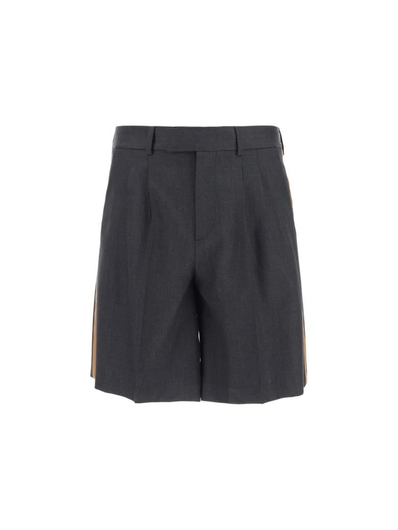 Valentino Bermuda Shorts - Antracite/tabacco
