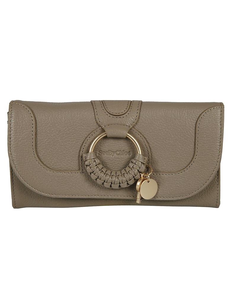 See by Chloé Hana Ring Continental Wallet - Motty Grey
