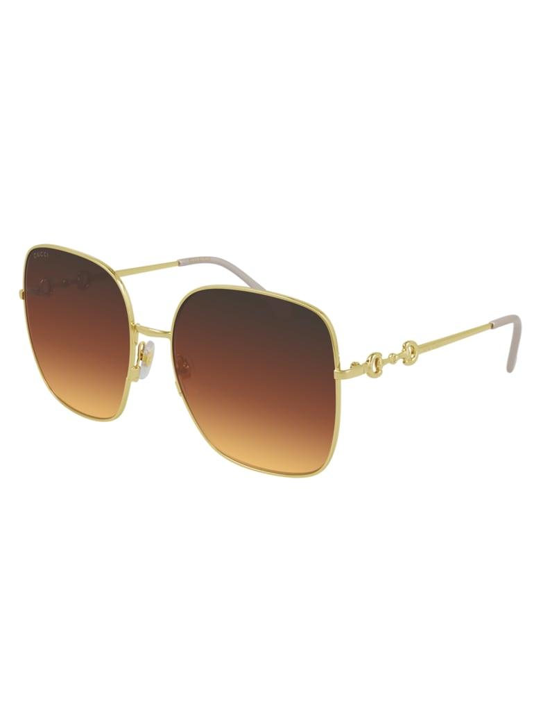 Gucci GG0879S Sunglasses - Gold Gold Brown