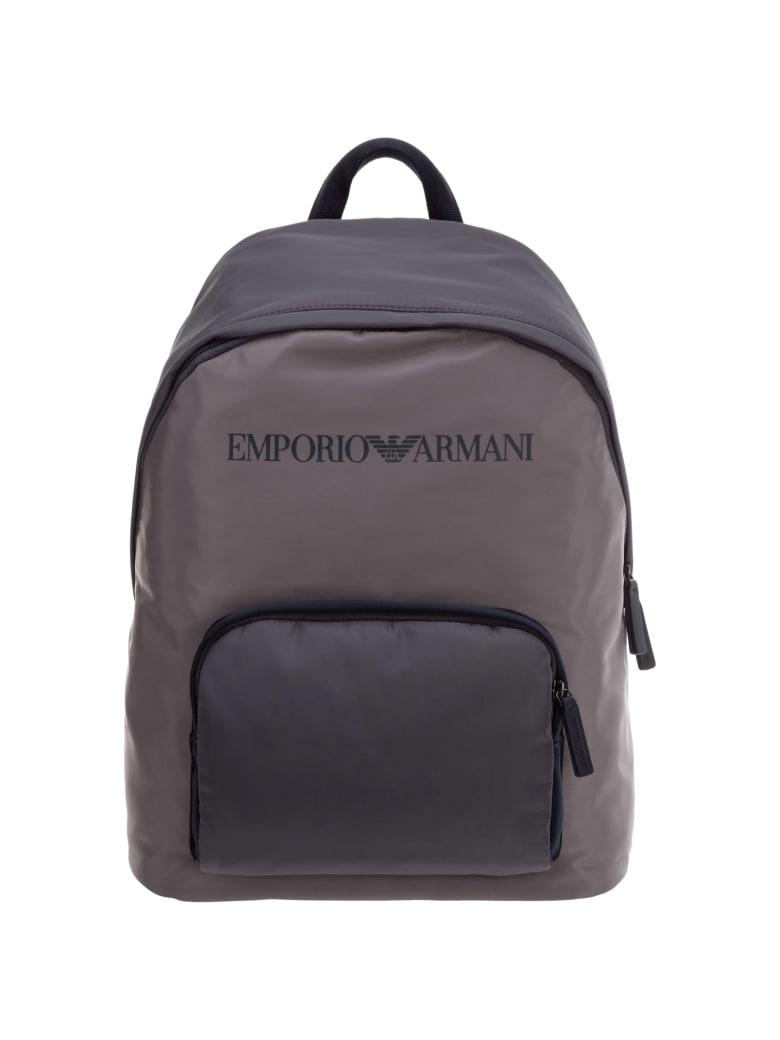 Emporio Armani Tournament Backpack - Beige - Blue - Green