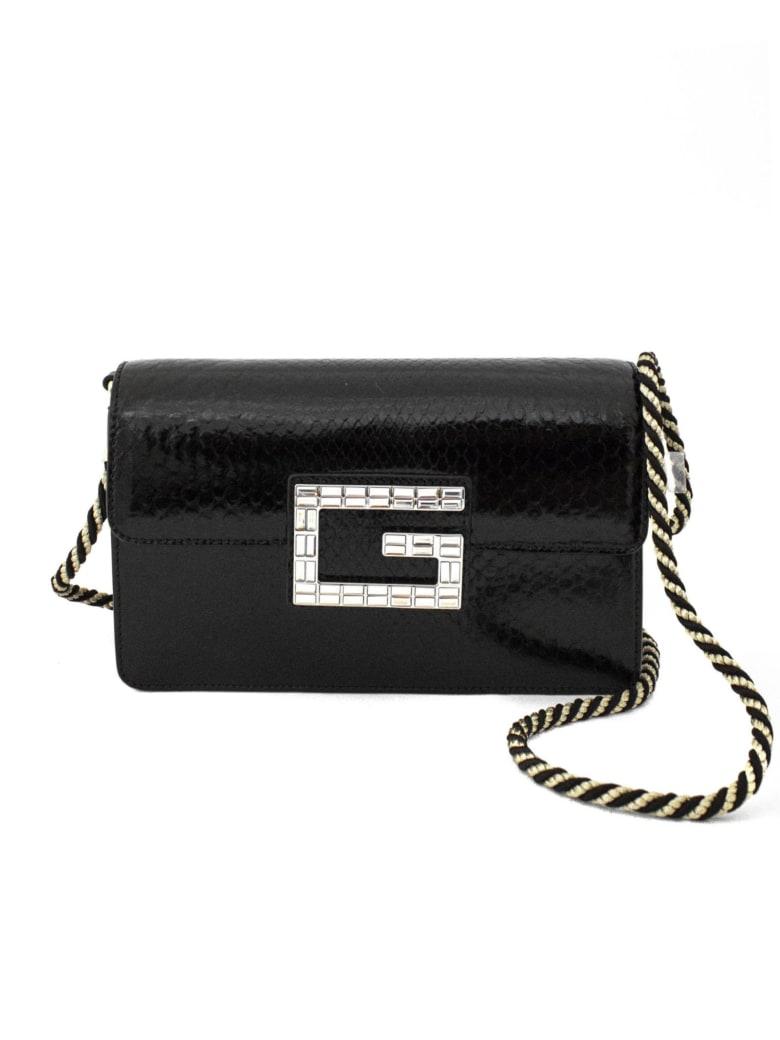 Gucci Black Python Shoulder Bag With Square G. - Nero