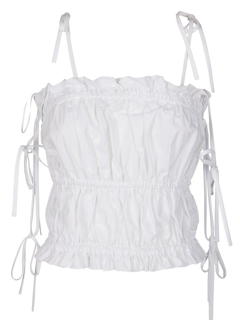 MSGM White Cotton Tank Top - Bianco