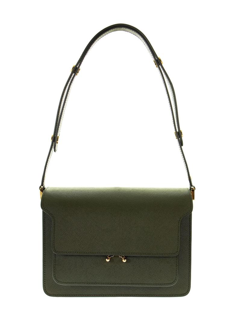 Marni Trunk Bag In Saffiano Calf - Green