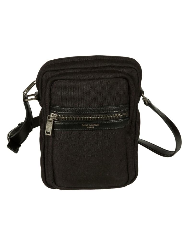 Saint Laurent Adjustable Strap Shoulder Bag - Black