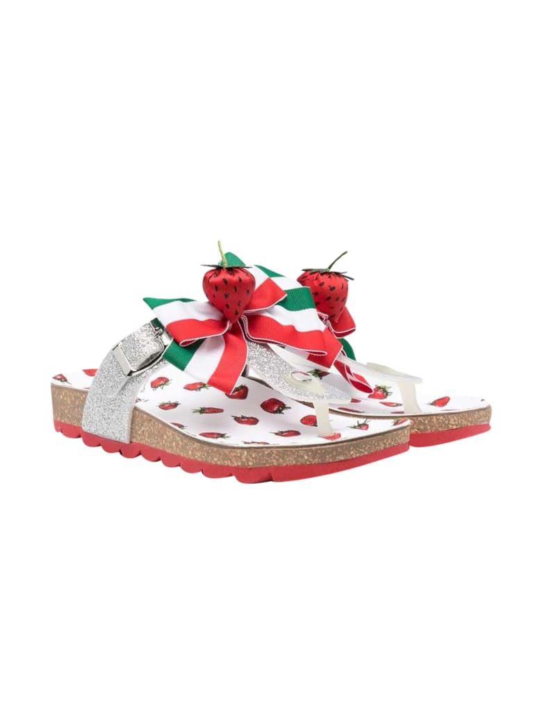 Monnalisa Sandals With Decoration - Rosso