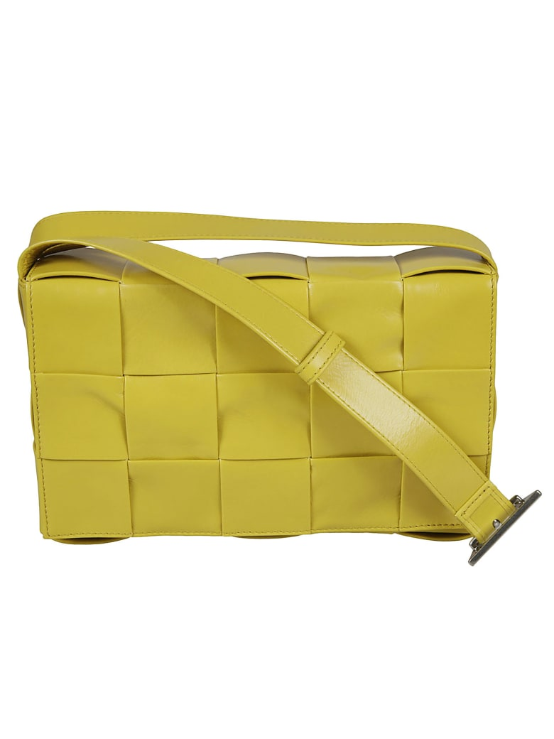 Bottega Veneta Weave Shoulder Bag - Mirabelle/Silver