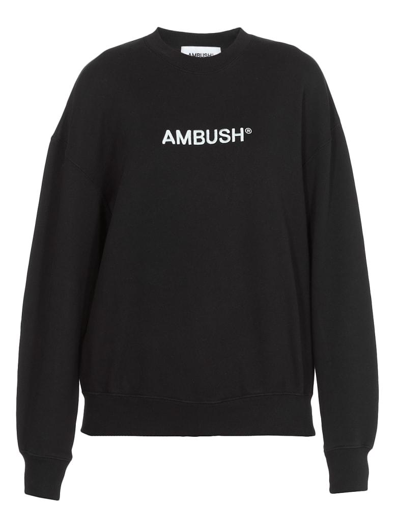 AMBUSH Logo Sweatshirt - BLACK LIGHT BLUE