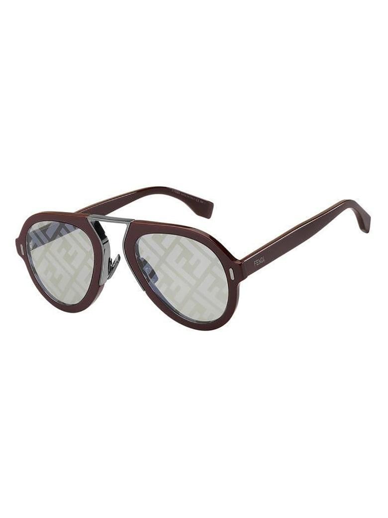 Fendi FF M0104/S Sunglasses - Lhf/rx Burgundy