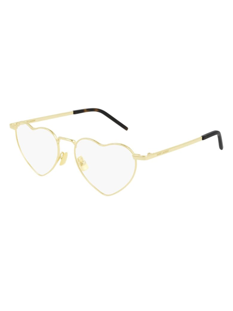 Saint Laurent SL 301 LOULOU OPT Eyewear - Gold Gold Transparent