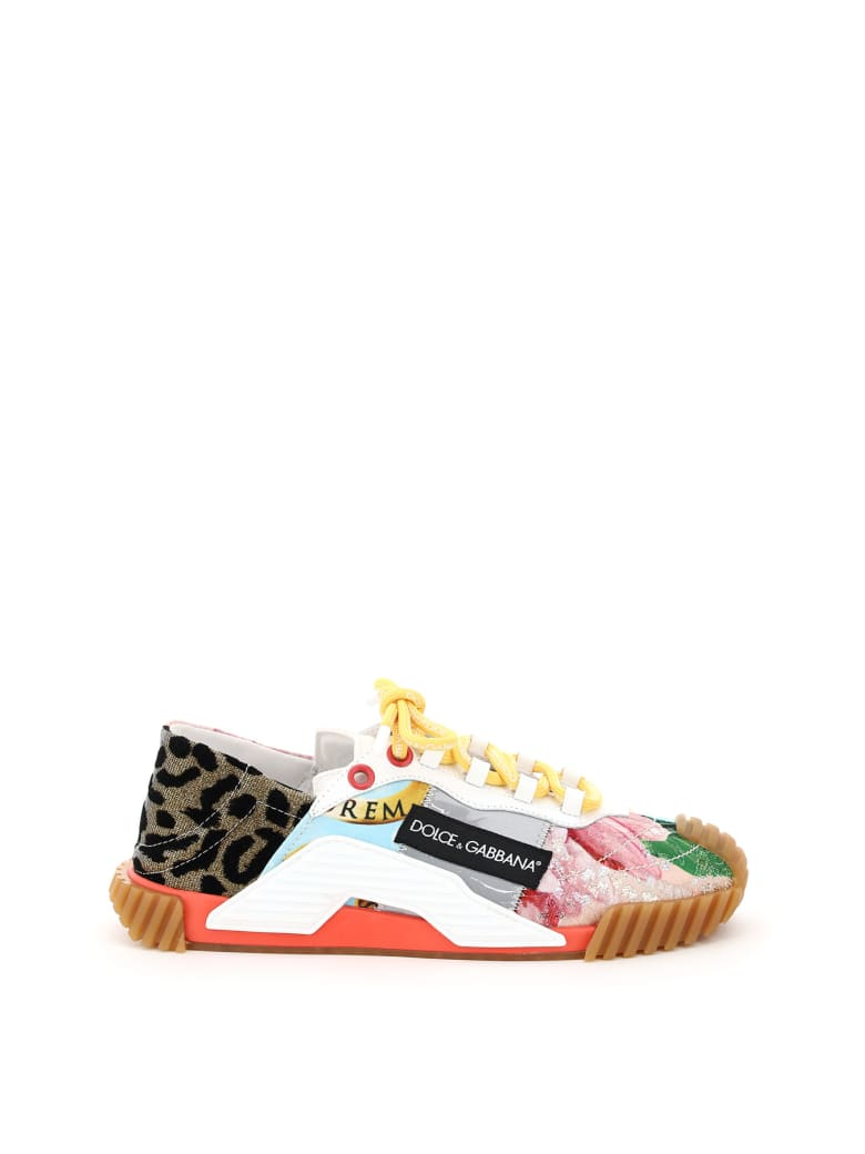 Dolce & Gabbana Sn1 Patchwork Sneakers - Multicolore