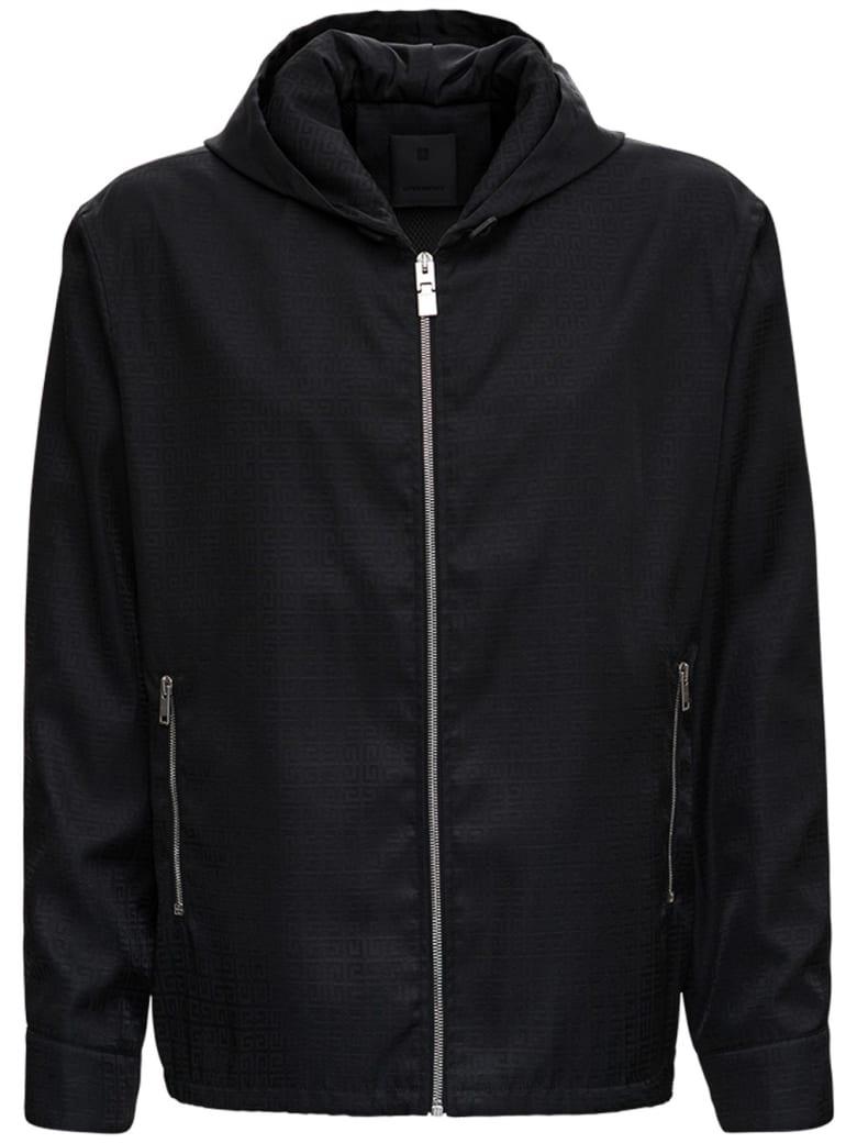 Givenchy Black Windbreaker In 4g Jacquard Nylon - Black