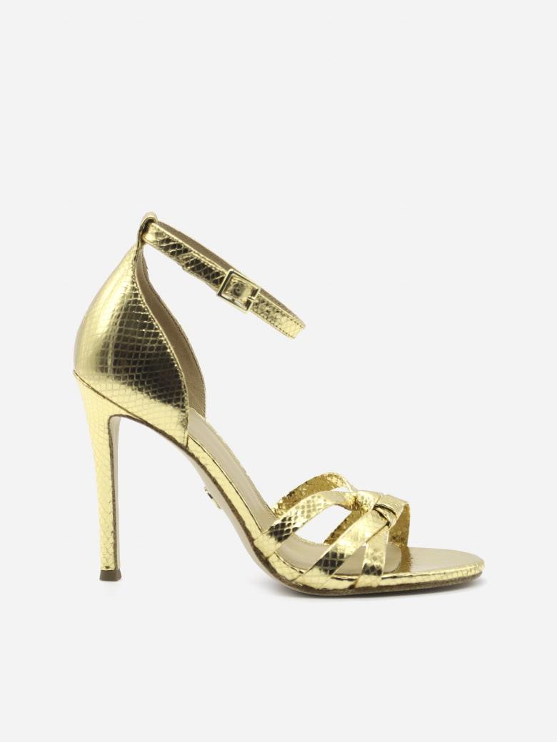 MICHAEL Michael Kors Brinkley Sandals In Metallic Leather - Gold