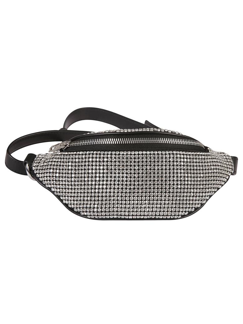 Alexander Wang Rhinestone Mesh Mini Belt Bag - White/Black