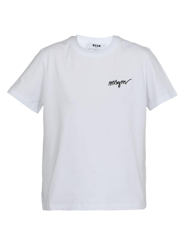 MSGM Cotton T-shirt - WHITE