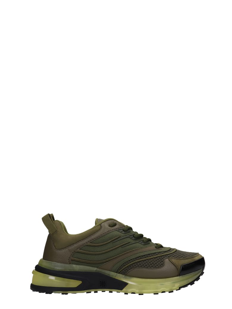 Givenchy Giv 1 Sneakers In Green Synthetic Fibers - green