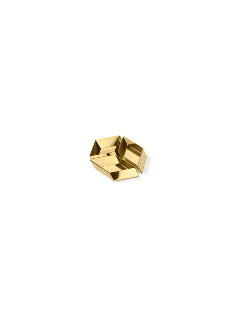 Ghidini 1961 Axonometry - Small Cube Polished Brass - Polished brass