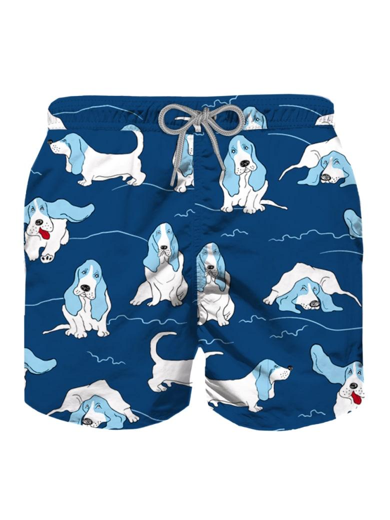 MC2 Saint Barth Basset Hound Print Boy Swimshorts