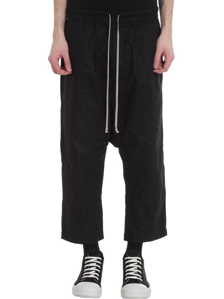 DRKSHDW Drawstring Crop Pants In Black Cotton