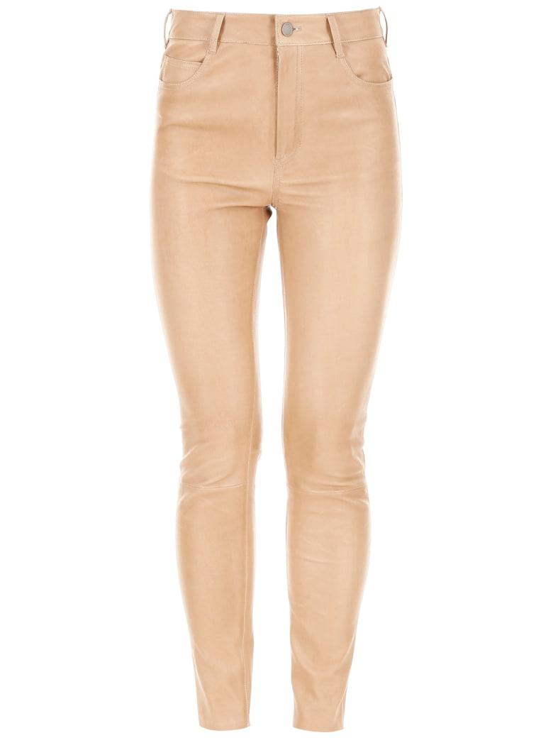 DROMe Stretch Nappa Trousers - RIMMEL (Brown)