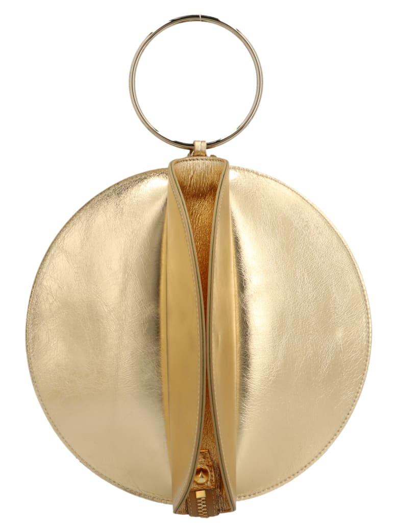 Sara Battaglia 'plissè Bracelet' Bag - Gold